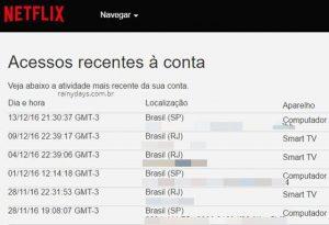 Saber se alguém está usando sua conta do Netflix