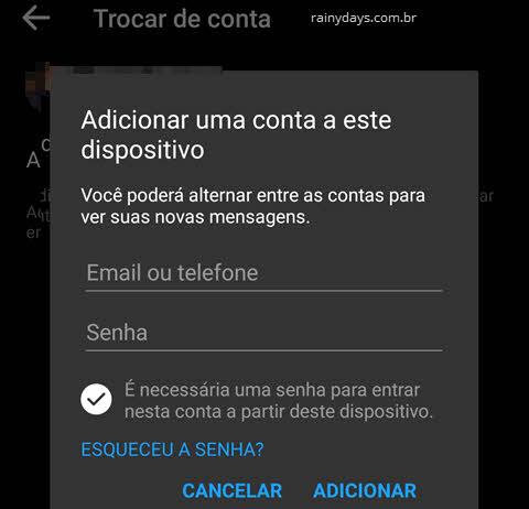 Como adicionar várias contas no app Messenger
