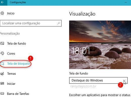 Bloquear propagandas da tela de bloqueio do Windows 10