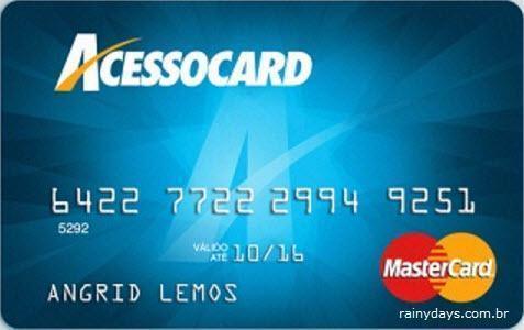 cancelar cartão AcessoCard
