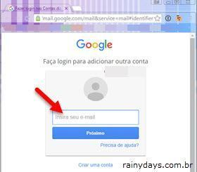 Fazer login em outra conta do Gmail 2