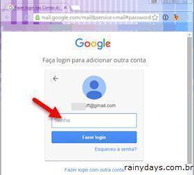 Fazer login em outra conta do Gmail 3