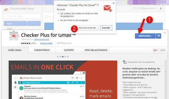 Gerenciar o Gmail pela barra do Chrome 1