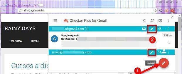 Gerenciar o Gmail pela barra do Chrome 4