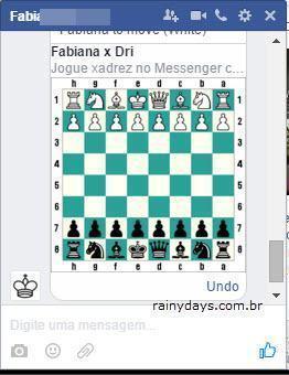 Jogar xadrez pelo Facebook Messenger 2
