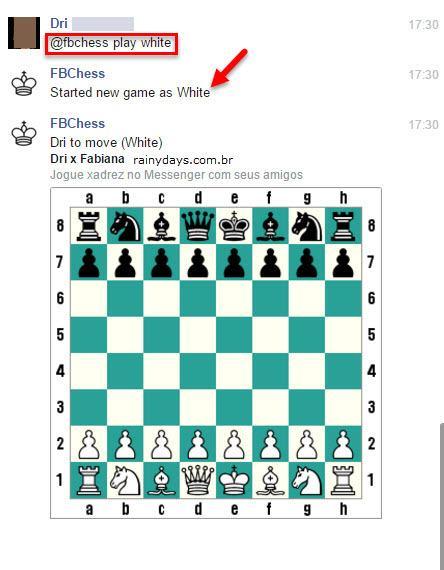 Jogar xadrez pelo Facebook Messenger 4