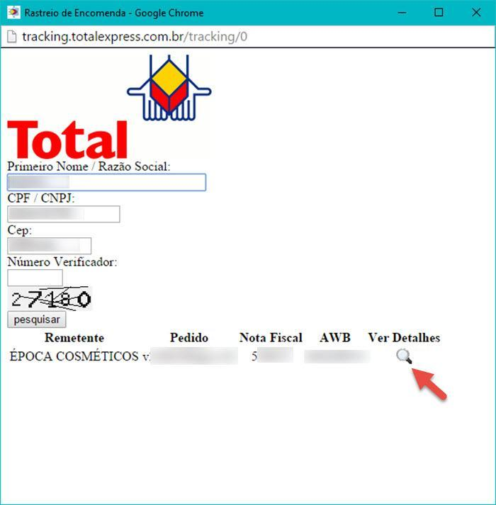 Rastreamento Total Express