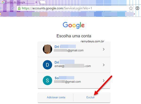 remover conta do Google do Escolha uma conta 2