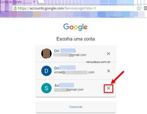 remover conta do Google do Escolha uma conta 3