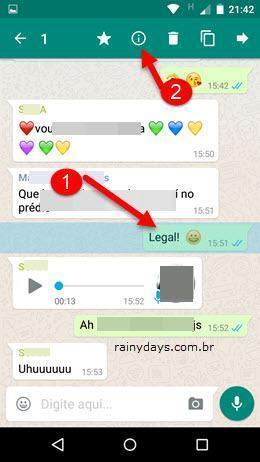 Saber quem leu mensagem em grupo no WhatsApp 1