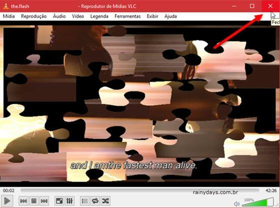 Transformar vídeo do VLC em quebra-cabeça
