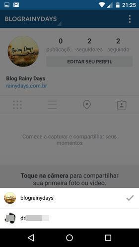 Usar várias contas no Instagram