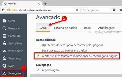 bloquear o Auto Refresh de páginas da web