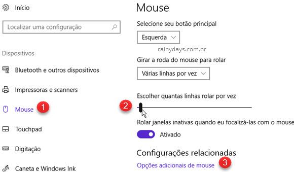 Como customizar velocidade do mouse no Windows 10