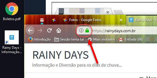 criar atalho de site arrastando ícone da barra de endereços