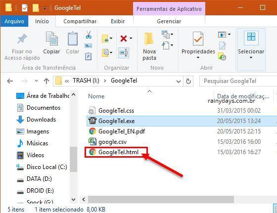 Criar lista de contatos do Google em HTML 5