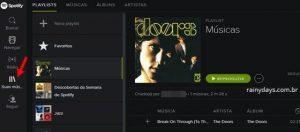 Como criar playlists no Spotify Web Player