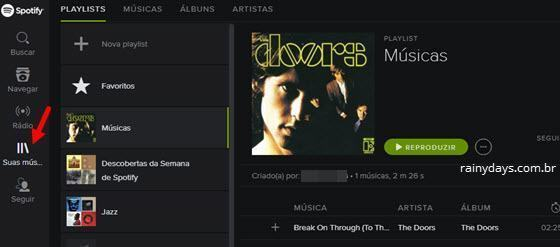 Como criar playlists no Spotify Web Player