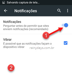 Como desativar notificações do Chrome Android