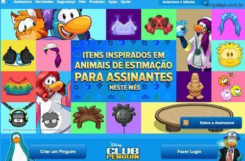 excluir conta do Club Penguin