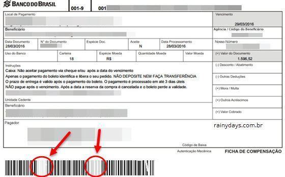 Identificar boleto falso