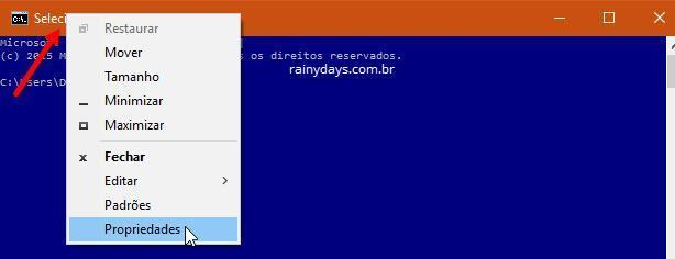 Personalizar o Prompt de Comando no Windows 10