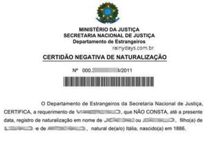Como tirar Certidão de Naturalização Brasileira
