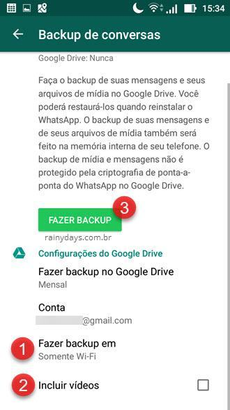Backup do WhatsApp no Google Drive