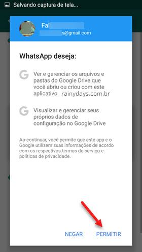 Como Fazer backup do WhatsApp no Google Drive 4