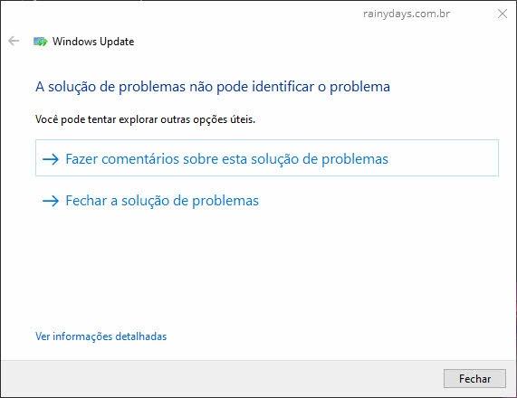Como consertar Windows Update travado usando Solução de Problemas Windows