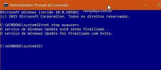 Apagar cache do Windows Update 1
