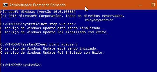 como corrigir Windows Update travado 3