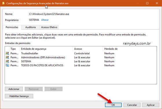 desativar o Narrador do Windows 10 (11)