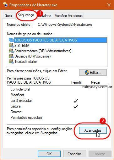 desativar o Narrador do Windows 10 (3)