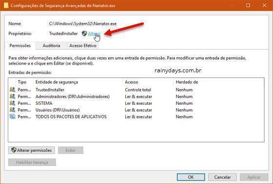 desativar o Narrador do Windows 10 (4)