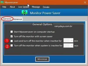 Como desligar monitor quando bloquear Windows