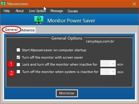 Desligar monitor quando bloquear Windows 3