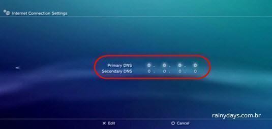 mudar DNS do Playstation 3 (6)