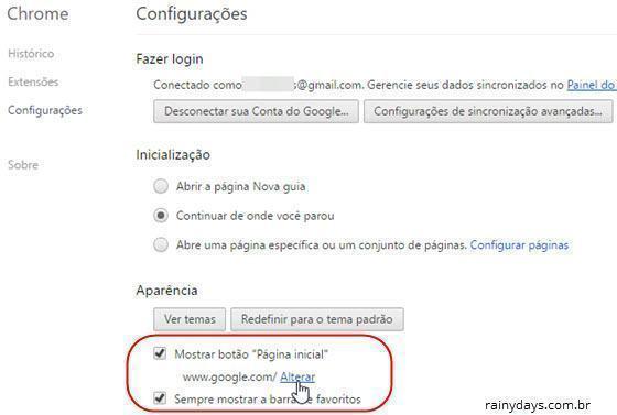 Mudar página inicial dos navegadores 1