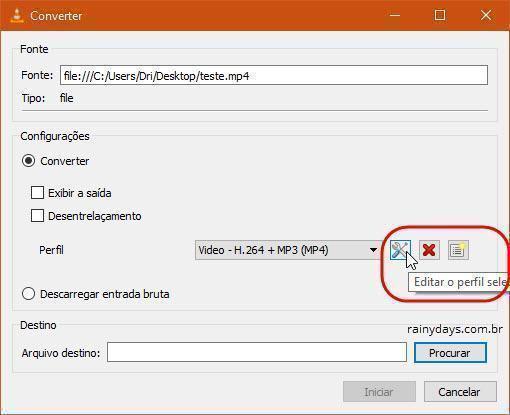 remover áudio de vídeo com VLC 5
