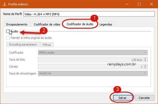 remover áudio de vídeo com VLC 6