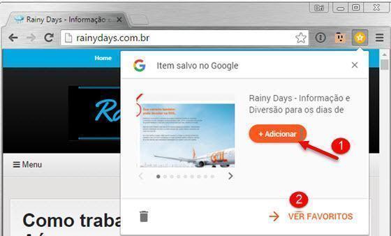 Salvar sites na sua conta Google 2