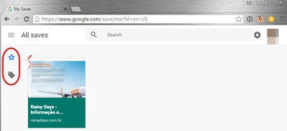 Salvar sites na sua conta Google 4
