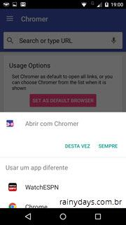 abrir todos os links do Android no Chrome 2