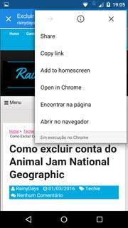 abrir todos os links do Android no Chrome 6