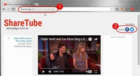 Assistir YouTube sincronizado com amigos 3