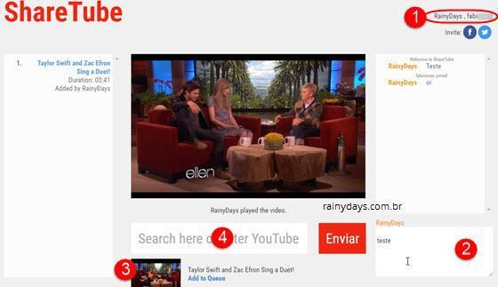 Assistir YouTube sincronizado com amigos 4