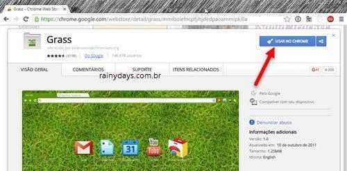 Como baixar temas para o Chrome