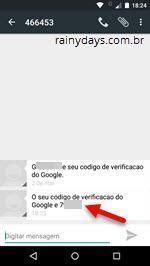 código de verificação do Google