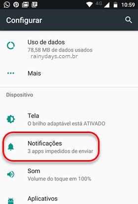 config notificações Android nougat